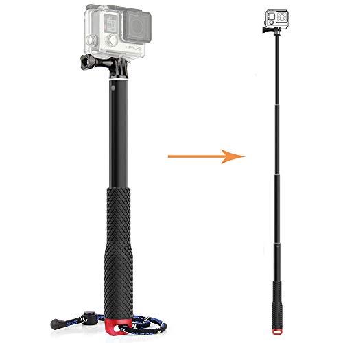 """TEKCAM Aluminium Teleskop Handheld Selfie Stick Pole Kompatibel mit Gopro Hero 9 8 7 6 AKASO Victure Crosstour Campark APEMAN Wasserdichte Action Kamera Selfie Stick Einstellbare 11.25-37 \"""""""