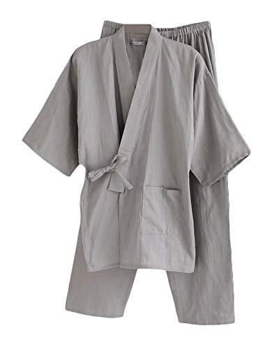 Trajes De Estilo Japonés De Meditación para Hombres Robes Kimono Khan Pijamas Albornoz Rucio L