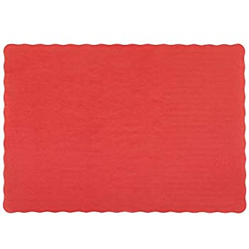 Perfect Stix Red Placemat Scalloped Edges 100CT