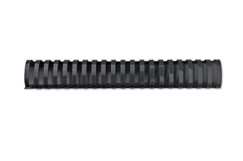 GBC 4028185 - Canutillo plástico DIN A4 21 anillas 38 mm ovalados (caja 50) color negro