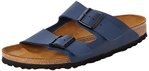 Birkenstock Unisex-Erwachsene Arizona Birko-Flor Pantoletten, Blau (Blau), 38 EU