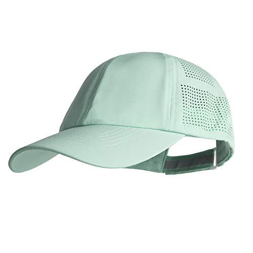 Women Quick Drying Baseball Cap Sun Hats Mesh Lightweight UV Protection for Outdoor Sports - Multiple Colors (#1 Aqua)