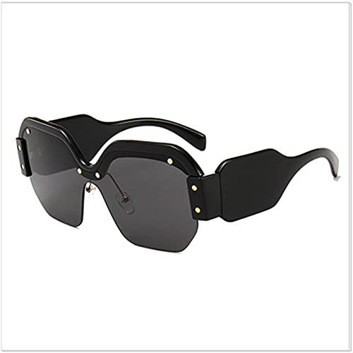 HSCDQ Gafas de Sol Punk de Gran tamaño Mujeres Big Frame Square Sun Glasses Moda Eyewear de Modelado único exc.tq (Lenses Color : Rd327 1)
