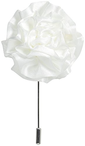 Stacy Adams Men's Flower Lapel Pin, White, One Size
