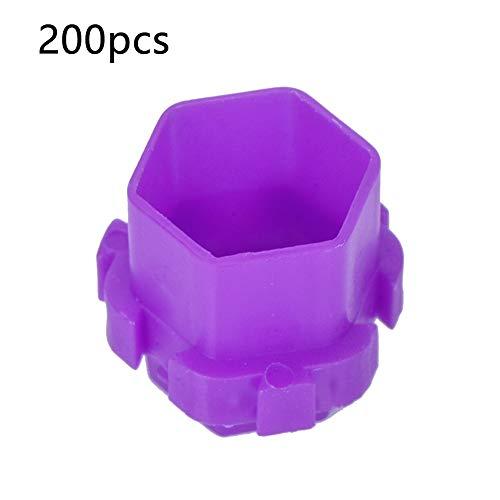 Encre De Tatouage Tasse 200 Pcs Encre De Tatouage Tasses En Nid D'abeille Forme Pigment Titulaire Tasses Permanent Maquillage Fournitures Violet (Couleur : Purple)