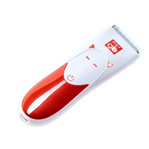 Goodbaby Baby Hair Clipper Cortapelo Mudo y Resistente al Agua Cortapelos Motor bajo Shock Charging Household Cortapelos eléctrico Infantil (Color : Red)