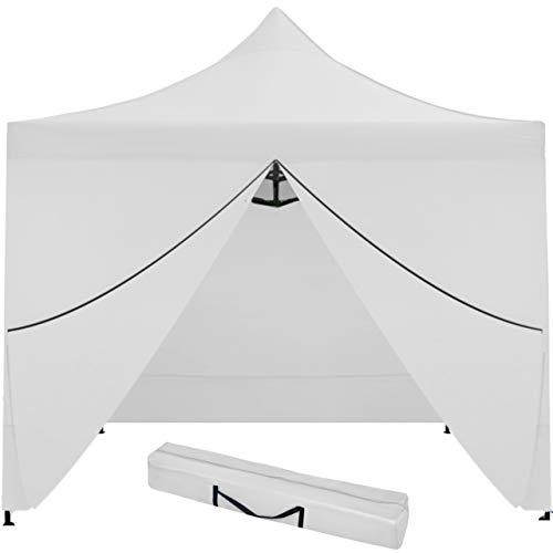 MT MALATEC Faltpavillon Faltzelt 3x3m Partyzelt Gartenpavillon UV 30 WASSERDICHT 9920, Farbe:Weiß