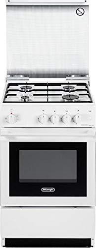 Cucina a gas con forno elettrico, N°4 Fuochi, 50x50 cm, colore Bianco SEW 554 N ED