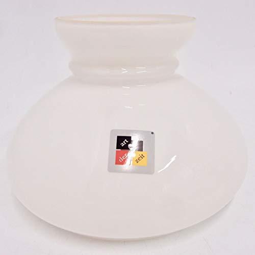Petroleumlampenschirm 150 230 192 mm Glas weiß Vestaschirm Opalglas Öllampe alt