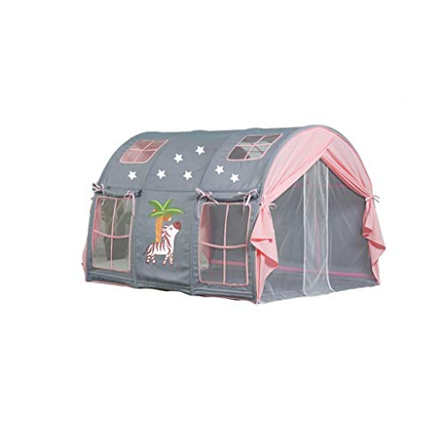Tents Castle for Child, Playhouse with Cartoon Patterns, Dome Play for Children's Room, Dual Purpose Sleeping (Color : D, Size : 100 * 140 * 90-95CM)