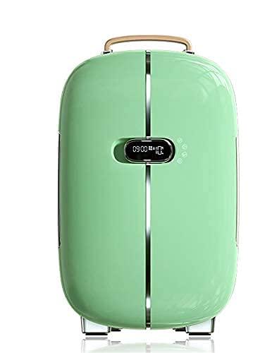 CCAN 2021 Upgrade Flawless Beauty Mini refrigerador con Doble Puerta Refrigerador cosmético para automóvil Mini refrigerador cosmético de bajo Ruido, 12 L, Verde Happy Life