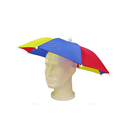 Huayang Chapeau Pliable Style de Parasol pour Les Activités en Plein Air Pêche Randonnée Golf Plage(Couleur:Random)