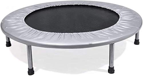 ZHENG Exercise Trampoline Indoor Trampoline Exercise Trampoline For Adults Or Kids Bungee Rebounder Trampoline For Gym/Home (Color : Grey)