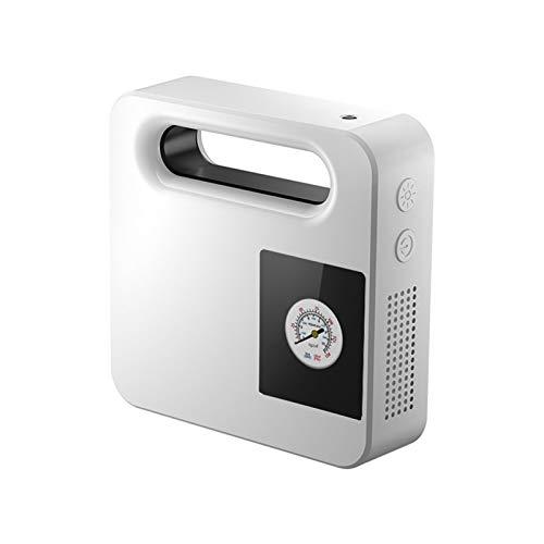 MLX Auto-Reifen-Inflator Luftpumpe Protable Elektroauto-Luftverdichter Mini-Gummireifen Autoreifen PUMB 12V Air Inflator Pumpe LIYSJ (Color Name : White)