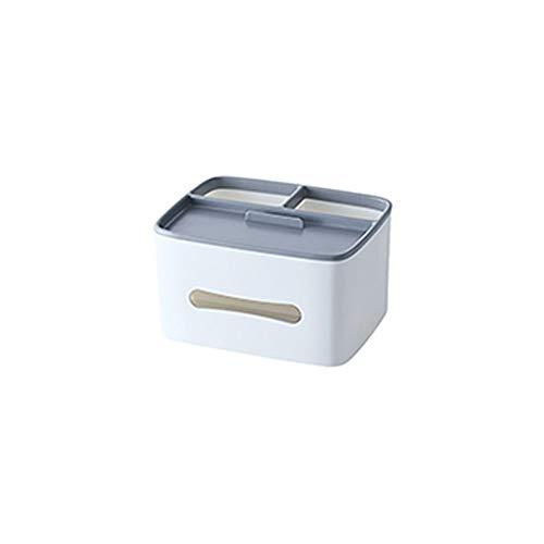 FEIHAIYANY zjh - Caja de pañuelos (1 unidad, polipropileno, con compartimento rectangular, compartimento para pañuelos, para almacenamiento de escritorio, tamaño de 201 x 156 x 116 mm, color gris)