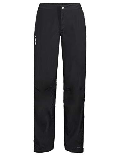 VAUDE Damen Yaras Rain Pants III Regenhose zum Radfahren, black, 40, 415230100400