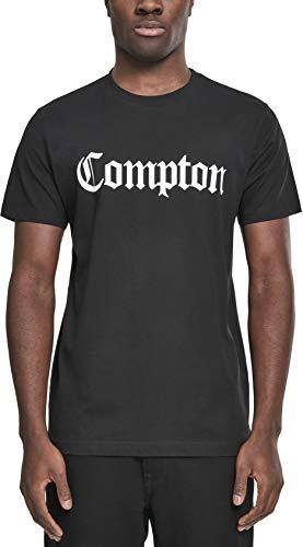 Mister Tee Compton - Camiseta para Hombre, diseño con Texto Impreso, Hombre, MT268, Negro, XX-Large