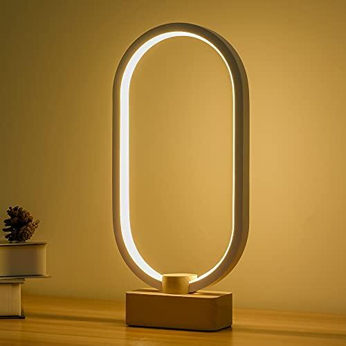 LEDの木製の電気スタンド、寝室のベッドサイドのナイトライト、調光可能なLed照明、創造的な家の装飾のテー...