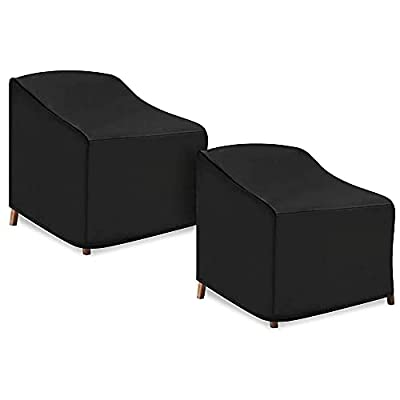 Patio Chair Covers, 2 Pack Lounge Deep Seat Cover, 38''Lx31''Dx29''H, 600D Waterproof and Heavy Duty Outdoor Furniture Covers