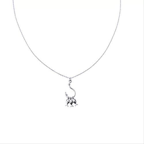 DODO.GOGO 925 Silber niedlich DREI kleine Fisch Anhänger Halskette Persönlichkeit Fisch Haken Kurze Schlüsselanhänger Kette Mode Temperament Schmuck