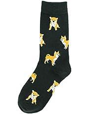 lijun Kobiety śmieszne zwierzę skarpety załoga Shiba Inu pies kot świnia nadruk szczęśliwa kreskówka pończocha