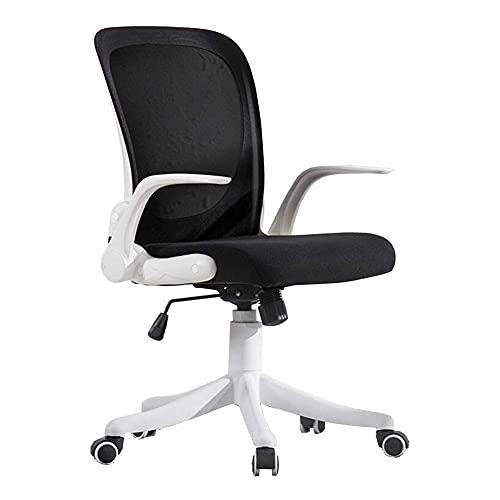 N&O Renovierungshaus Freizeitstühle Bürostuhl 360 Grad drehbar Ergonomische Executive Mesh Stühle Drehbarer Handlauf Höhenverstellbar 45 55 cm Langlebig stark