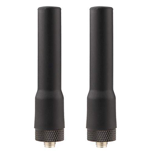 Retevis RT20 Walkie Talkie Antena SMA-F Suave Banda Dual 144/430MHz Compatible con Walkie Talkie RT5R RT5RV RT5 Baofeng UV-5R UV-5RA BF-888S ESYNIC UV-5R Sunreal Walkie Talkies (2 Pcs)