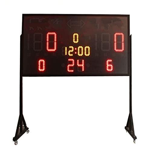 yaunli Puntuación Baloncesto a Gran Escala Juego Juego de Marcador electrónico Tiempo de puntuación Temporizador de Baloncesto Voltear el Marcador Digital (Color : 1, Size : 180x95cm)