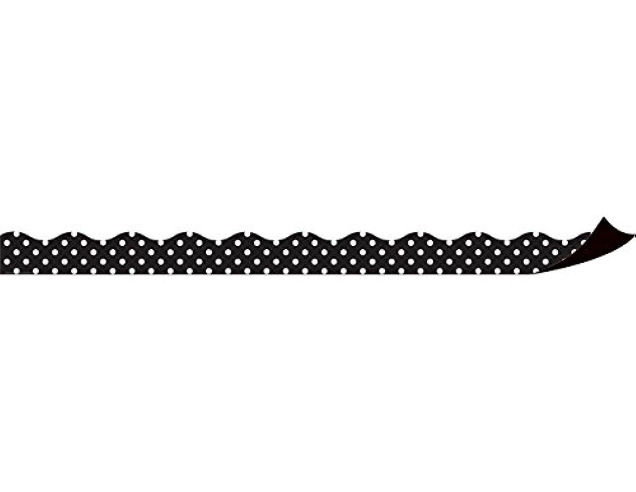 写真害虫印象Magnetic Borders Black Polka Dots
