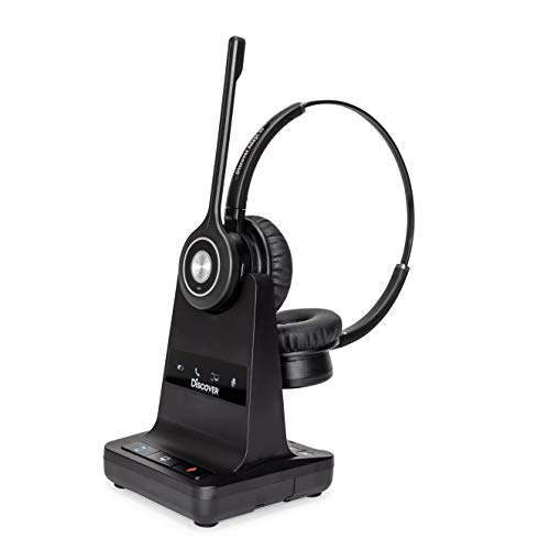 Discover Adapt 30 Wireless Headset System for Office Phones- Switch Between Single and Dual Speaker- Compatible with Polycom, Avaya, Cisco, Yealink and 98% of Office Desk Phones