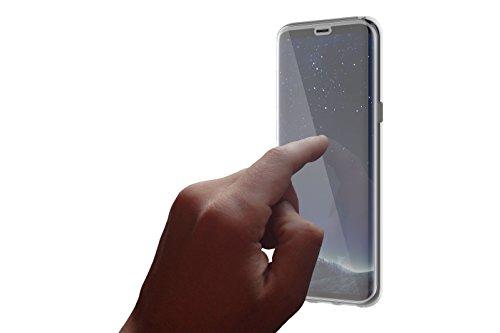 OtterBox Pack Clearly Protected Skin - Pack con funda de protección fina y flexible + protector de pantalla de cristal templado Alpha Glass para Samsung Galaxy S8+