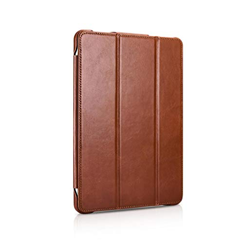 Cowhide flat protective case for iPad Pro 12.9 Flip Holder Holster-Brown iPad 10.2