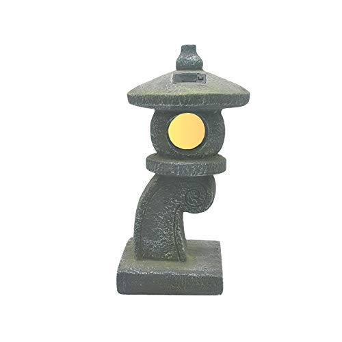 JY&WIN Escultura de Linterna Japonesa, Estatua de decoración Retro Vintage, Figura de Pagoda Solar de jardín, lámpara Decorativa para Patio al Aire Libre, Templo Zen E