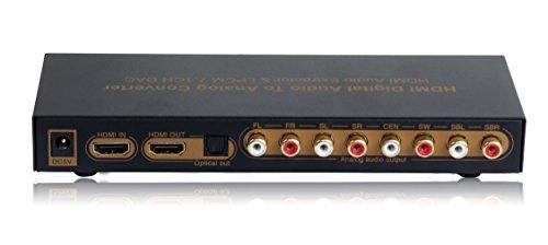 HDMI切替付 デジタルオーディオ分離 7.1ch アナログ出力【aEX-LPCM71ch】