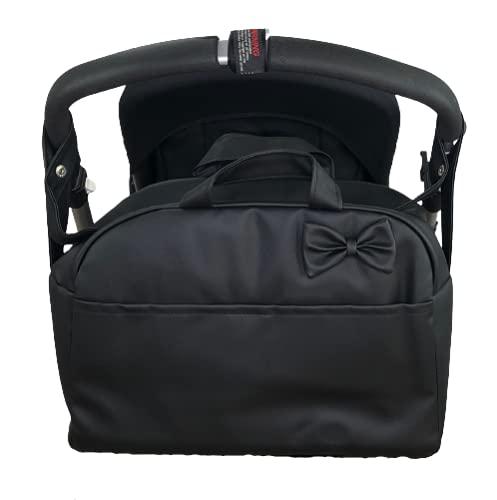 Bolso carro bebe Polipiel Bandolera Maternal Color Negro- Danielstore