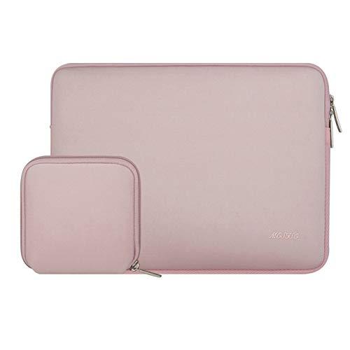 Bolso De Manga Portátil De Neopreno Moso para 11 13 13.3 14 15 Pulgadas MacBook Air Pro Touch Barra De La Barra Portátil para DELL HP (Color : Pink, Size : 11.6 Inch)