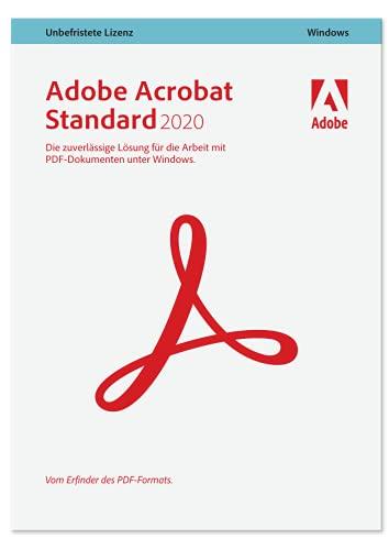 Adobe Acrobat Standard 2020 deutsch Retail 1 Gerät unbegrenzt PC/MAC Disc 