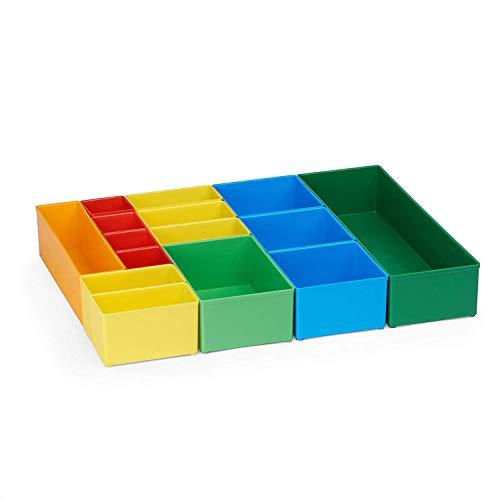 Bosch Sortimo Insetboxen-Set | Insetboxenset T3 Für die T-BOXX | Ideale Werkzeugkoffer Einlagen leer | Ordnungssystem Werkstatt Werkzeug