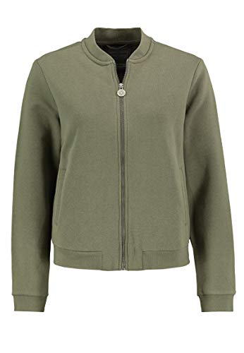 Eight2Nine Damen Bomberjacke aus Sweat mit Stehkragen Middle-Green XS