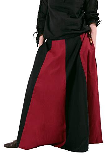 Battle-Merchant middeleeuwse rok, wijd uitgegeven, div kleuren S-XXL - Middeleeuwse kleding maagd - Viking LARP dames lang