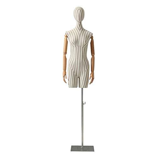 GBYYMX Bustos y maniquies maniquíes de Sastre modista Modelos de Vestido de Novia del diseñador de Moda del Busto del maniquí Costura Manualidades (Color : Silver, Size : S)