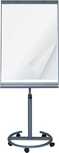 Professionele flipchart met whiteboard magnetisch, beschrijfbaar, mobiel en in hoogte verstelbaar tot 195 cm - vaste stand op vijf wielen - hoge kwaliteit