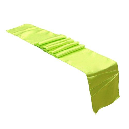 VOSAREA Fournitures de Table en Satin Table Runner Cloth pour Le Banquet de fête