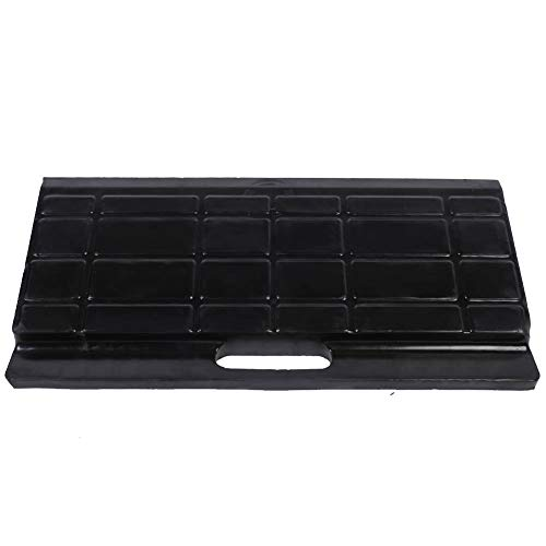 2.8 inch Heavy Duty Rubber Curb Ramp, 2 Pieces Portable Non-Slip Threshold Curbside Bridge Rubber Kerb Ramp for Car, Truck, Motorcycle, Wheelchair, 17.7 x 7.9 x 2.76 inch