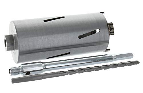Diamant Bohrkrone Sechskant lang (200mm) Aufnahme und Zentrierbohrer Nutzlänge 180 mm Ø 62 mm Betonbohrkrone Kernbohrer