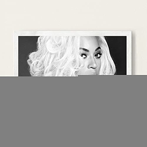 Beyonce Super Muziek Zanger Ster Zanger Nieuwe Canvas Poster Prints Foto Portret Foto Bar Hotel Cafe Wall Art Decor Muurschildering 50x70 cm (19.68x27.55 in) A-2388