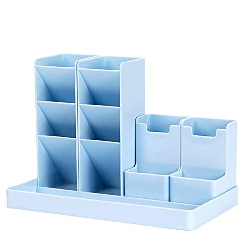 bobotron GrooE - Estuche organizador de escritorio para lápices, color azul