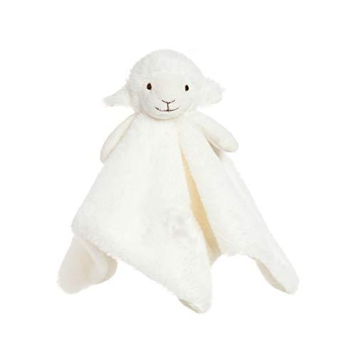 Apricot Lamb Luxury Snuggle Plush White Lamb Sheep Infant Stuffed Animals Security Blanket Nursery Character BlanketWhite Lamb 14 Inches