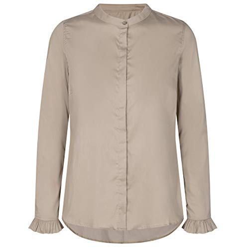 Mos Mosh Damen Bluse Mattie Sustainable Shirt Light Taupe - XXL