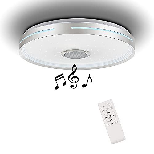 Horevo Bluetooth Deckenleuchte mit Lautsprecher, 24W Musik Deckenlampe mit...